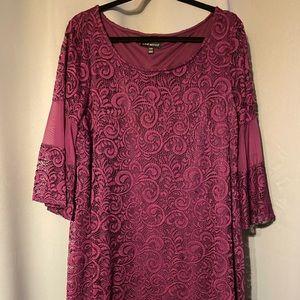 Lane Bryant Bell Sleeve Lace Dress